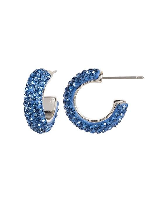 Pave Small Hoop Earrings