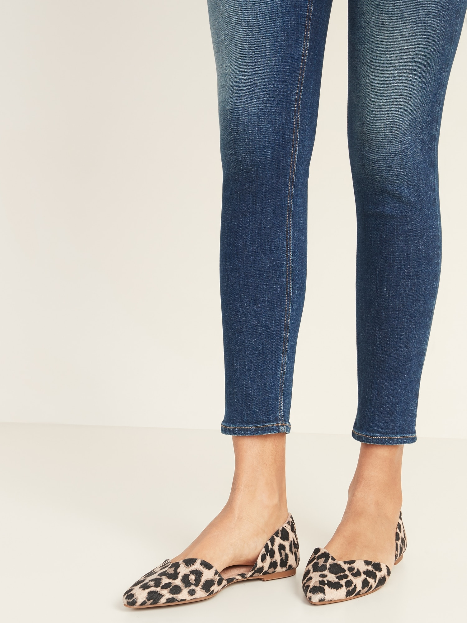 Textile Pointy-Toe D'Orsay Flats for