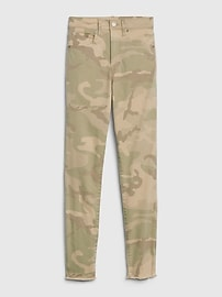 High Rise Camo True Skinny Ankle Jeans with Secret Smoothing Pockets