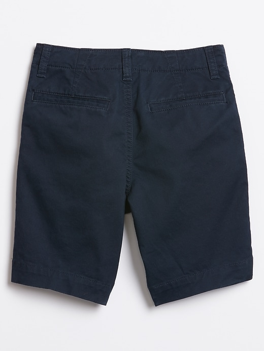 Kids Flat Front Shorts in Stretch