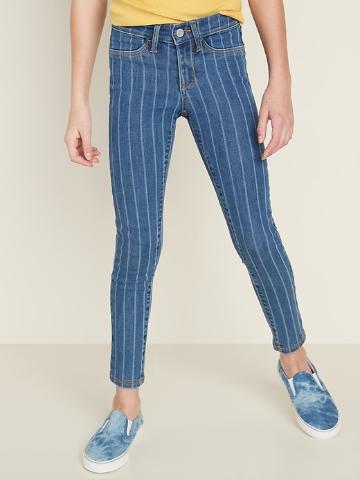 Ballerina Built-In Tough Pinstripe Jeggings for Girls
