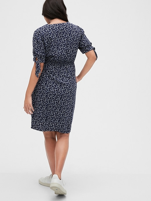 Maternity Print Button-Front Dress