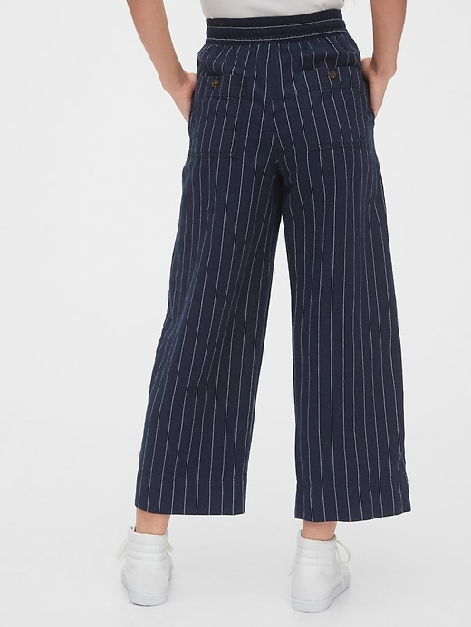 Linen Wide-Leg Pant