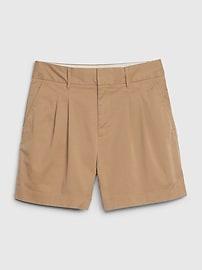 "5"" Pleated Khaki Short"