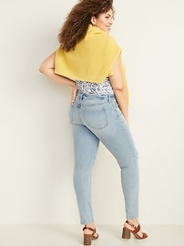 Low-Rise Button-Fly Rockstar Super Skinny Jeans for Women