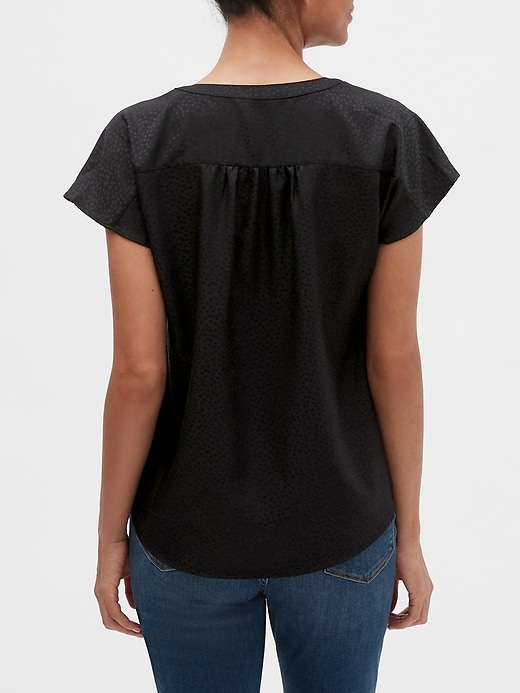 Textured Dolman-Sleeve Top