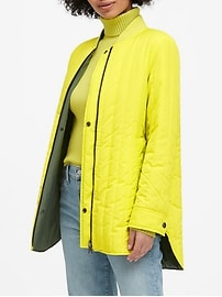 Petite Water-Resistant Reversible Jacket
