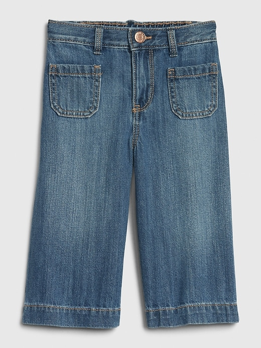 Toddler Organic Cotton Wide-Leg Crop Jeans