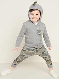 Dino-Critter Pullover Hoodie for Toddler Boys