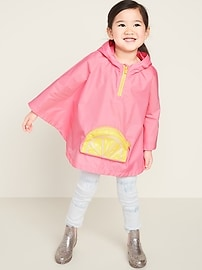 Packable Poncho for Toddler Girls
