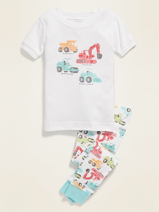 Construction Truck Pajama Set for Toddler & Baby
