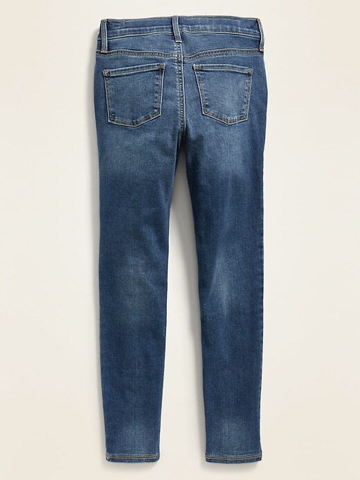 High-Waisted Built-In Tough Button-Fly Rockstar Super Skinny Jeggings for Girls