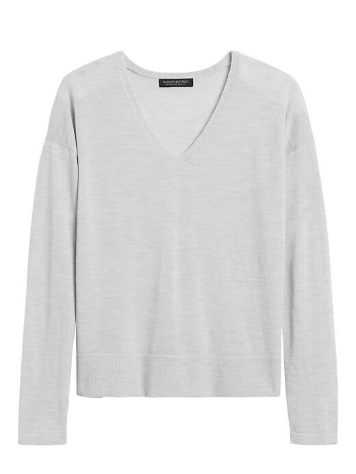Petite Washable Merino V-Neck Sweater