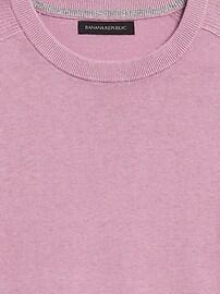 Silk Linen Crew-Neck Sweater