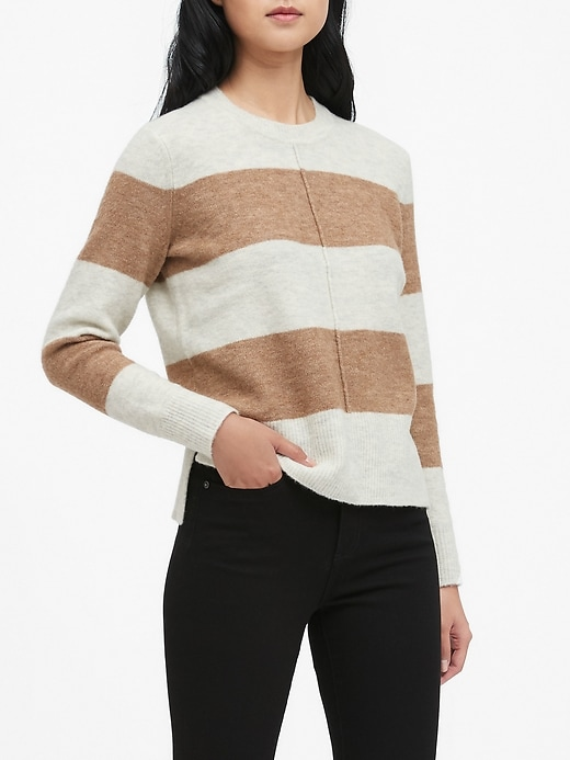 Petite Merino-Blend Center-Seam Sweater