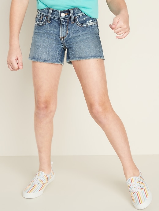 Distressed Jean Cut-Off Shorts for Girls