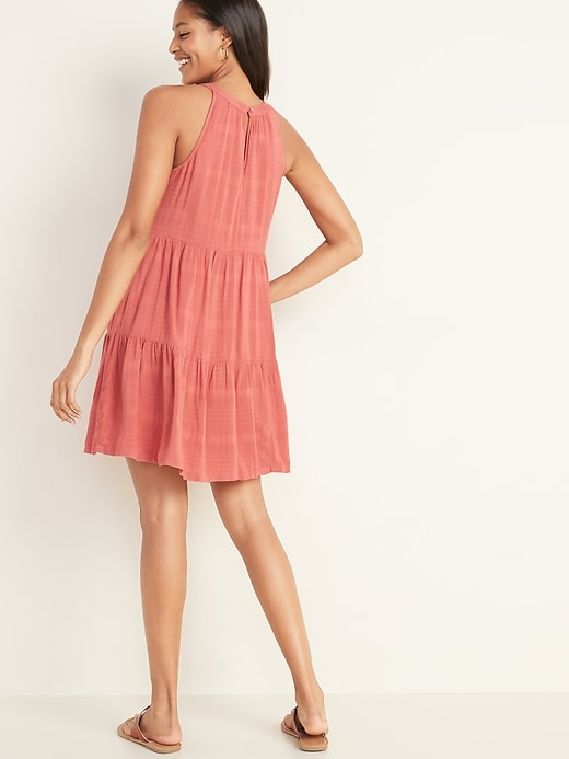 Sleeveless Tiered Swing Dress for Women