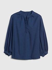 1969 Premium Shirred Denim Popover Shirt