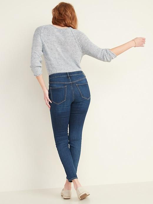 High-Waisted Dark-Wash Rockstar Super Skinny Jeans for Women