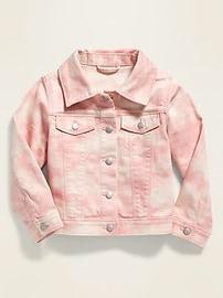 Tie-Dye Jean Jacket for Toddler Girls