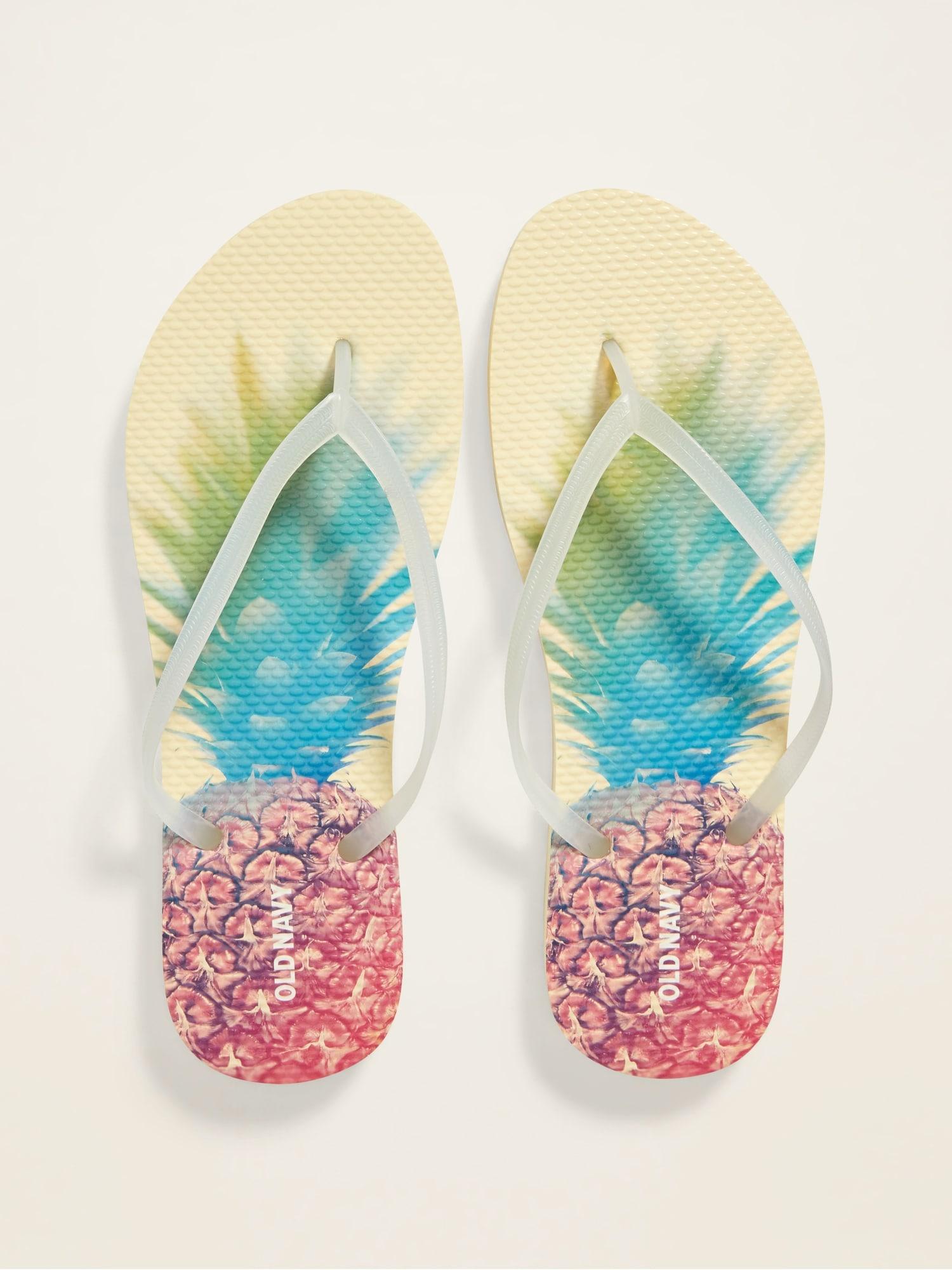 Patterned Flip-Flops for Women | Old Navy