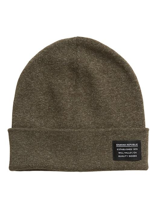 Bonnet en tricot côtelé de coton