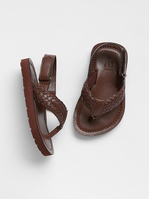 babyGap Faux-Leather Flip Flops