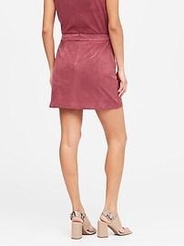 Vegan Suede Mini Skirt