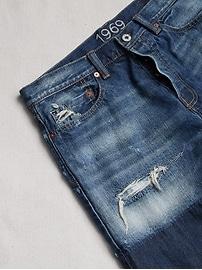 1969 Premium Destructed Denim Shorts