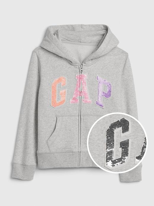 Kids Gap Logo Flippy Sequin Hoodie Sweatshirt