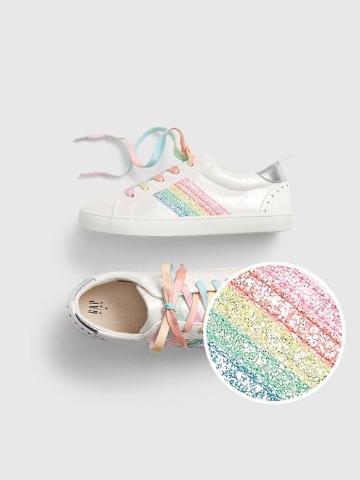 Kids Rainbow Stripe Sneakers