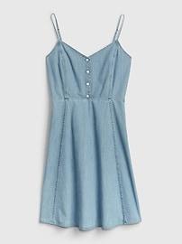 Denim Cami Fit & Flare Dress