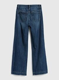 Kids Organic Cotton High Rise Wide-Leg Jeans