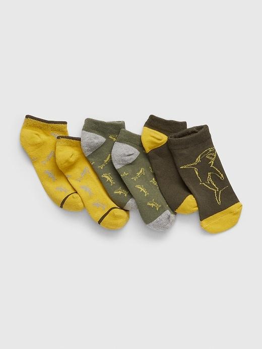 Kids No-Show Shark Socks (3-Pack)