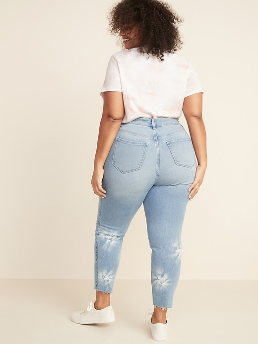 High-Waisted Secret-Slim Pockets Dip-Dye Rockstar Super Skinny Plus-Size Jean