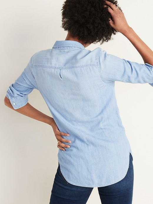 Classic Chambray Shirt for Women