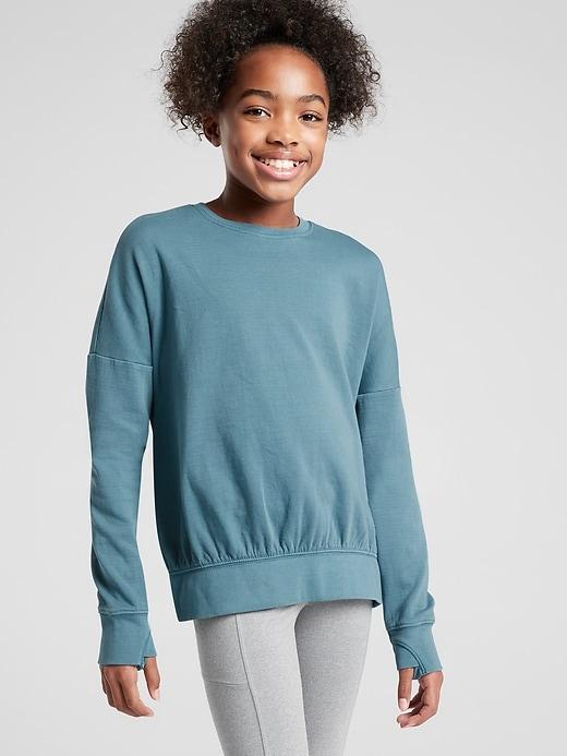 Athleta Girl Beachy Scrunch Sweatshirt