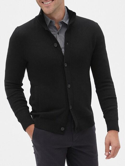 Mock-Neck Sweater Jacket