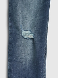 Kids High Rise Destructed Cheeky Straight Jeans