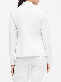 Petite Collarless Linen-Cotton Blazer