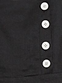 Linen-Cotton Square-Neck Jumpsuit
