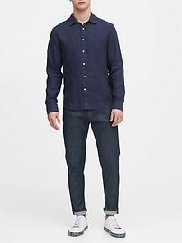 Untucked Slim-Fit Linen Shirt