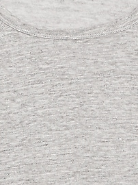T-shirt raglan court en lin