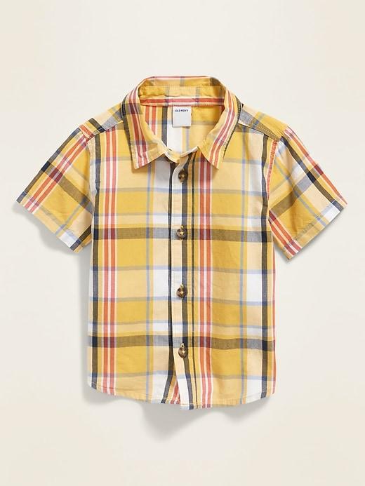Printed Poplin Shirt for Baby