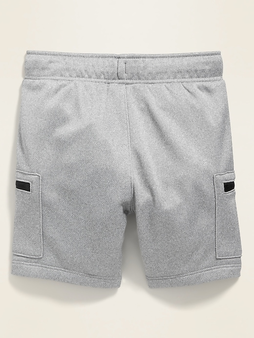 French Terry Zip-Pocket Cargo Shorts for Toddler Boys