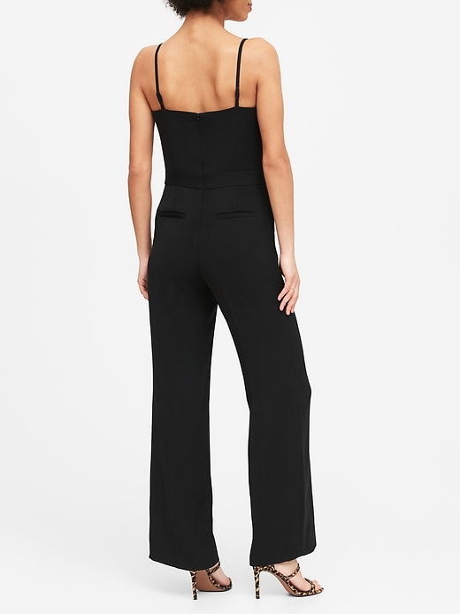 Strappy Flare-Leg Jumpsuit