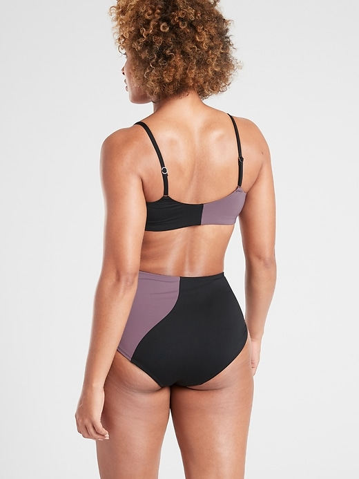 A&#45C Asym Colorblock Scoop Bikini Top