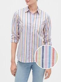 Print Shirt in Poplin