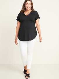 Maternity Luxe V-Neck Tunic Tee