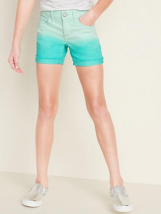 Dip-Dye Midi Shorts for Girls